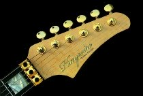 Head stock profile in the Haywire Custom Guitars-Custom Shop