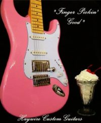 image pink guitar from Haywire Custom Guitars