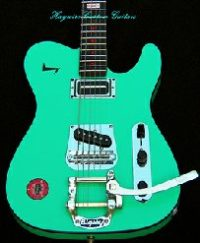 Haywire Custom Guitars Custom C. Christian Surf Green Tremolo