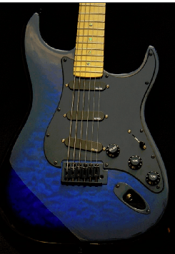 Haywire Custom Guitars Active Blue