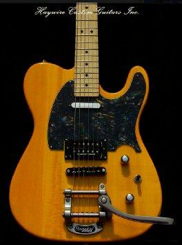 image Haywire Custom Guitars Custom  Humbucker Tremolo Butterscotch Guitar https://haywirecustomguitars.com/tremolo-custom/