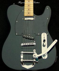 Haywire Custom Guitars Black Bigsby Special guitar set up