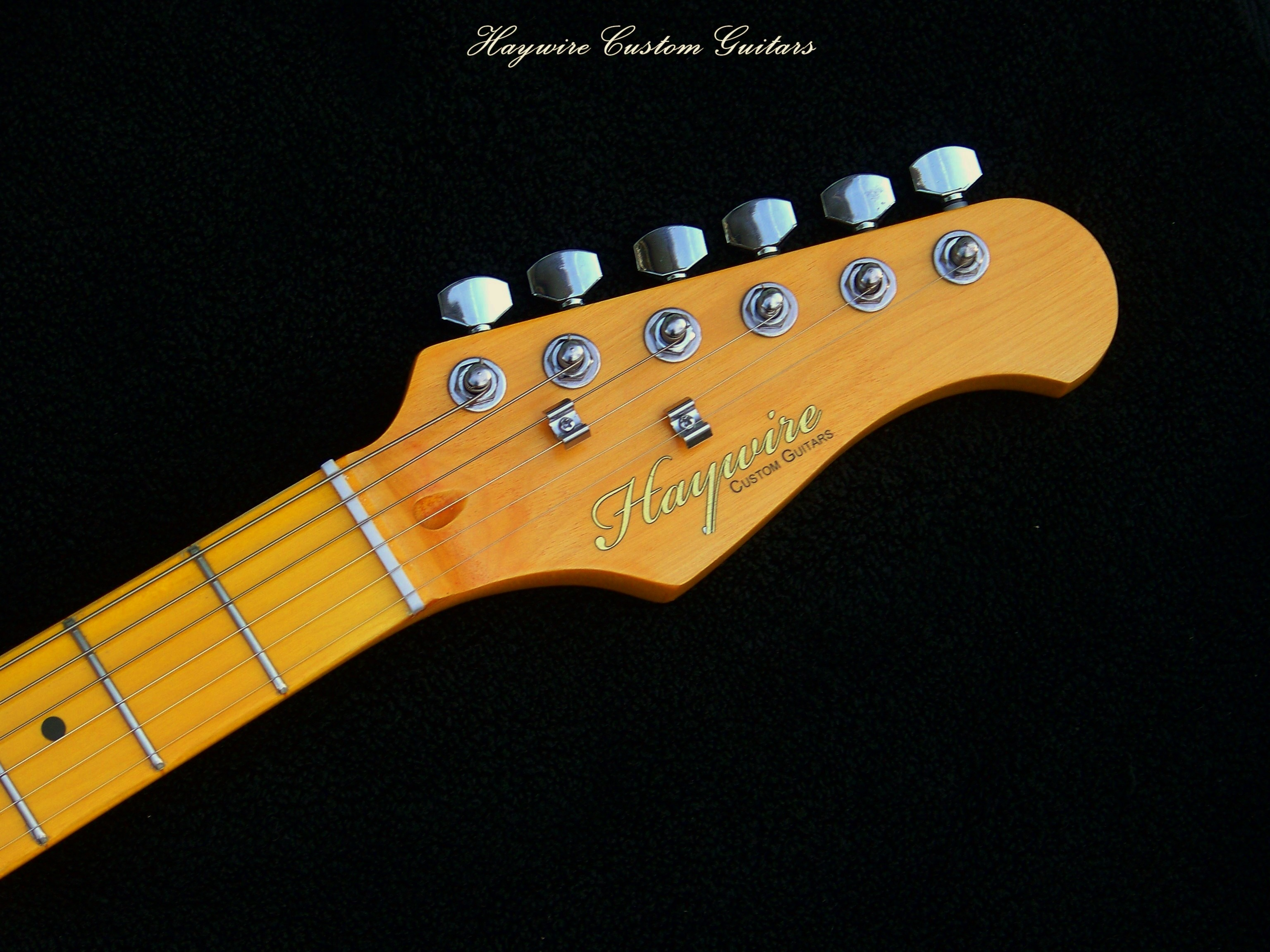 Light Amber Haywire Guitar Neck