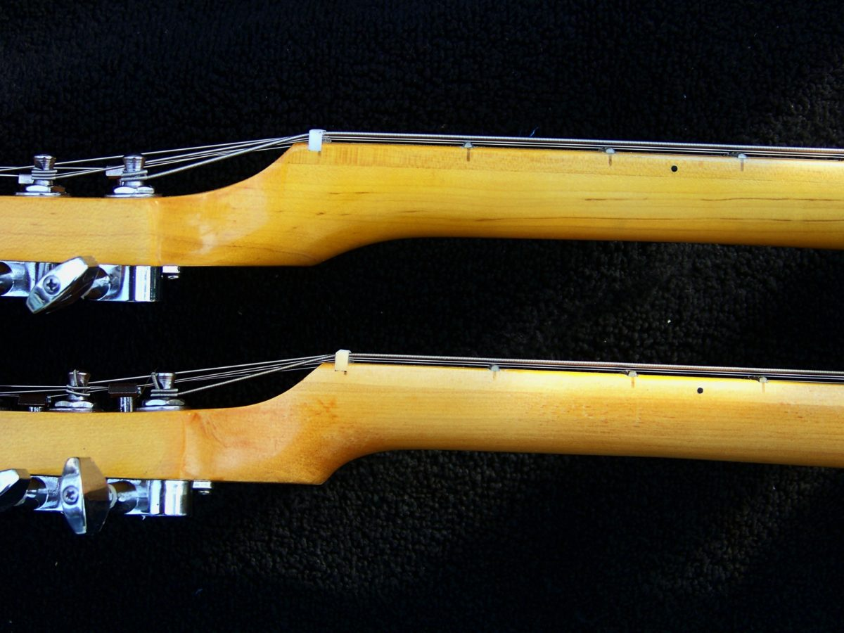 image guitar Neck shape before and after