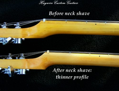 Reshaping A Guitar Neck