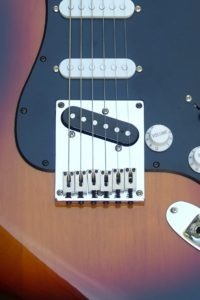 image Your Guitars intonation setup at Haywire Custom Guitars