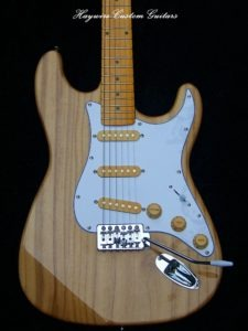 image Haywire Custom Guitars-Building a guitar- Ash Strat finished Amber Maple neck1