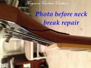 repair a broken guitar neck