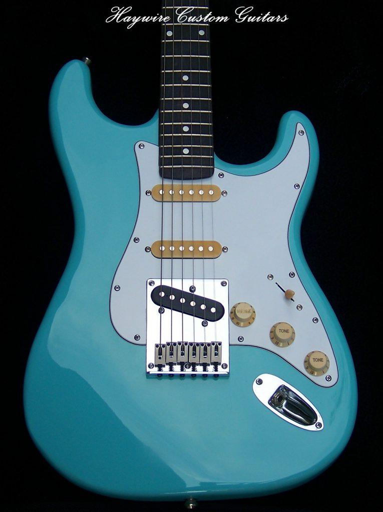 image Classic Modified Vintage Haywire Custom Guitars Nashville Player #1 Guitar Blue