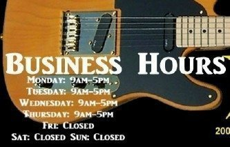 image Haywire Custom Guitars business hours sign