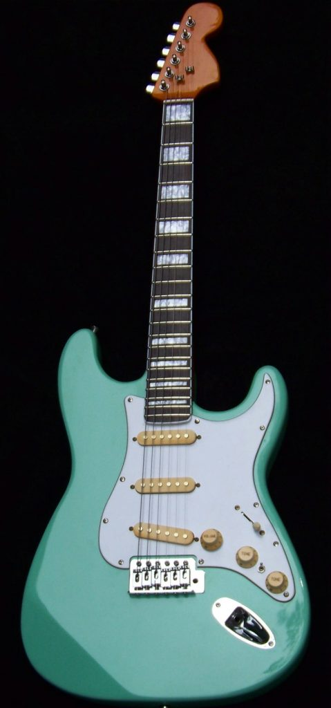 image Haywire Custom Guitars Srf Green Guitar with Block Inlay