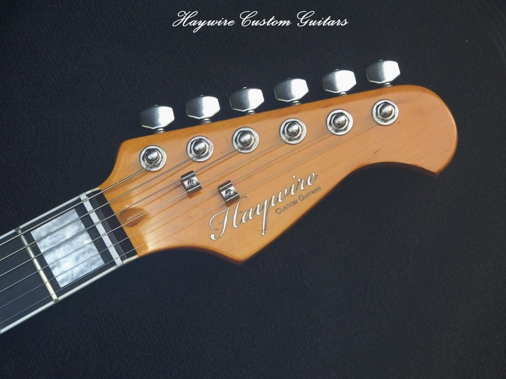 image Haywire Custom Guitars string tuning at headstock