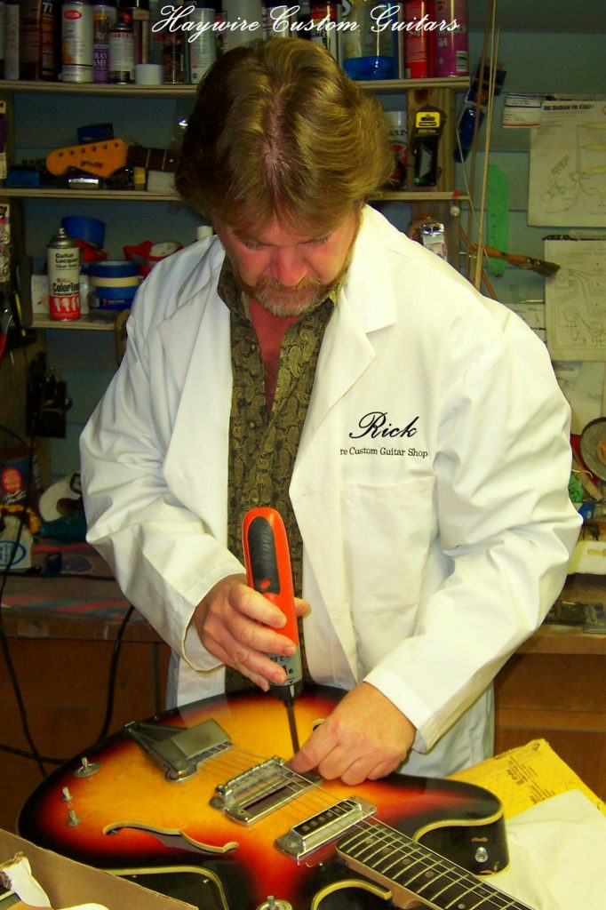 image Rick Mariner from Haywire Custom Guitars building a Backup Guitar