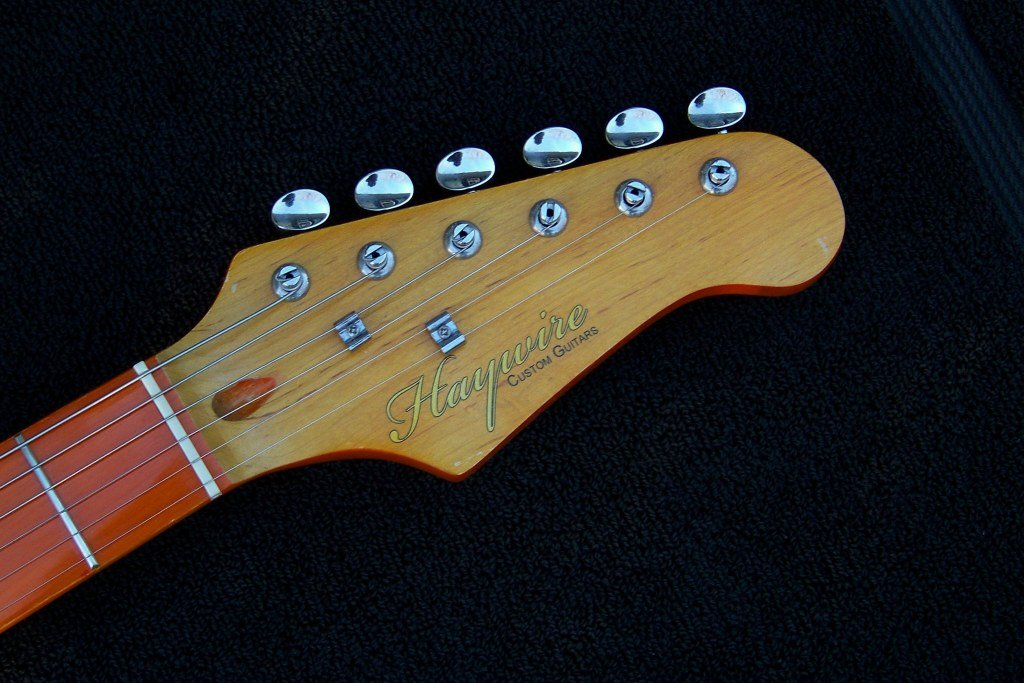 image headstock of a Haywire Custom Harvey Bryant Signature Guitar