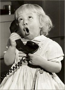 image little girl calling Haywire Custom Guitars