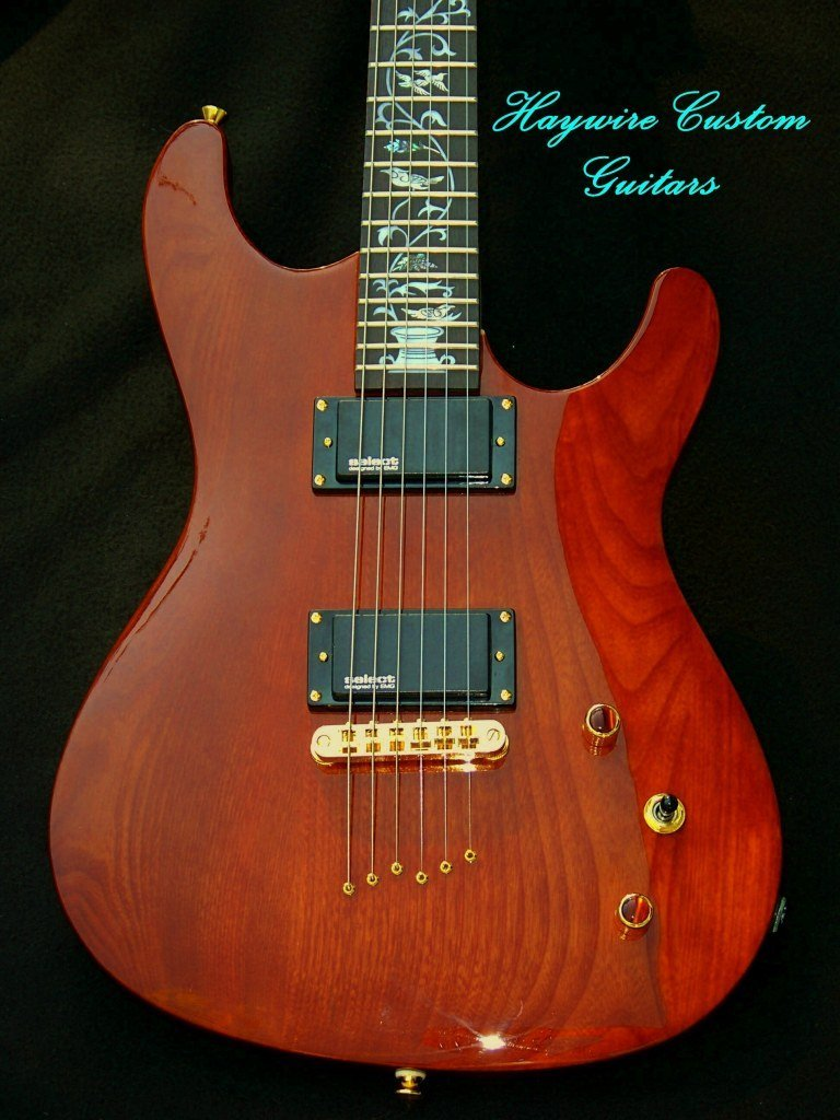 image Double cutaway guitar with humbuckers Custom Guitar Order from Haywire Custom Guitars