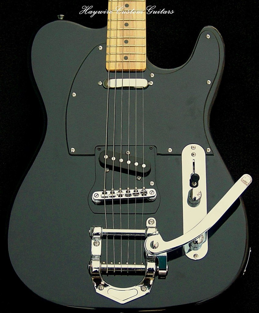 image Deluxe Tremolo+SRV's+B Style Tremolo+Single Coil Tele Neck Pickup+Custom Neck + 3 Way Switching by: Haywire Custom Guitars Inc-USA