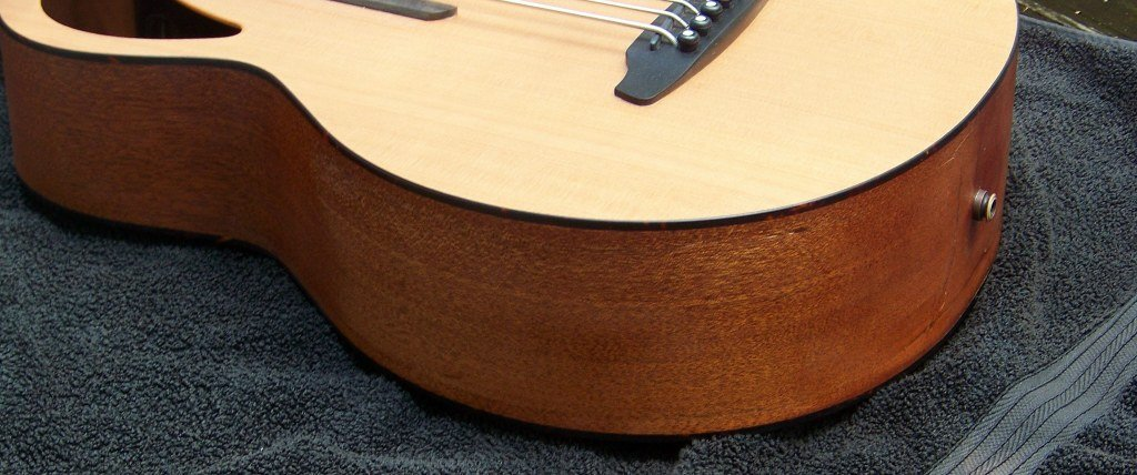 image of Haywire Custom Guitars after repair photo of a damaged Furch guitar