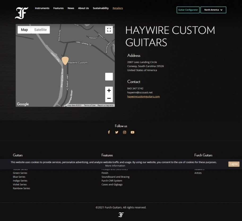 image showing NOW, You can buy your new Furch Guitar from Haywire Custom Guitars in Conway at Haywire Custom Guitars.